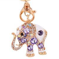 Zinklegierung Schlüssel Verschluss, Elephant, plattiert, mit Strass, keine, frei von Nickel, Blei & Kadmium, 115mm, verkauft von PC