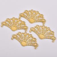 Haarstock-Befunde, Messing, Fach, originale Farbe, frei von Nickel, Blei & Kadmium, 55x28mm, 50PCs/Tasche, verkauft von Tasche