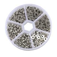 Zinklegierung Zwischenperlen, antik silberfarben plattiert, DIY & gemischt & Schwärzen, frei von Nickel, Blei & Kadmium, 6-9mm, 300PCs/Box, verkauft von Box