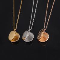 Edelstahl Medaillon-Halskette, unisex & Oval-Kette, keine, 25x30mm, verkauft per ca. 17.72 ZollInch Strang