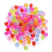 Kunststoffperlen, Kunststoff, plattiert, DIY & facettierte, 8mm, 200PCs/Tasche, verkauft von Tasche