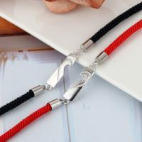 Messing Armband, mit Verlängerungskettchen von 30, hell silberfarben plattiert, Koreanischen Stil & einstellbar & für paar & mit Strass, keine, Länge:170 Millimeter, verkauft von PC