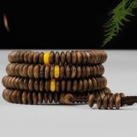Aloewood Multilayer Armbänder, mit Nylonschnur, Halbhandgefertigt, unisex, 8x2mm, verkauft von Strang