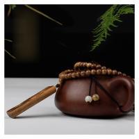 Aloewood Halskette, mit Nylonschnur, Halbhandgefertigt, unisex, 60x18x10mm, verkauft von Strang