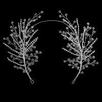 Braut Haarband, Kristall, mit Messingdraht, handgemacht, für Frau & mit Strass, 37cm, verkauft von PC