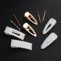 Zinklegierung Haarschnabel, mit Kunststoff Perlen, verschiedene Stile für Wahl & für Frau, keine, verkauft von PC