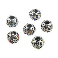Strass Zinklegierung Perlen, plattiert, DIY & mit Strass, keine, frei von Nickel, Blei & Kadmium, 11*10mm, Bohrung:ca. 5mm, 5PCs/Tasche, verkauft von Tasche