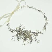 Braut Haarband, Zinklegierung, mit ABS-Kunststoff-Perlen, plattiert, für Braut & mit Strass, keine, frei von Nickel, Blei & Kadmium, 55x340mm, verkauft von PC