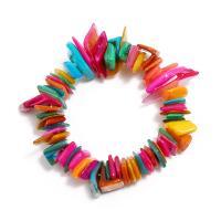 Muschel Schmuck Armband, mit elastischer Faden, für Frau, farbenfroh, 16mm, verkauft per ca. 7.5 ZollInch Strang