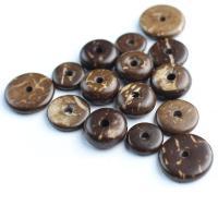 Kokosrinde Zwischenperlen, poliert, verschiedene Größen vorhanden, Kaffeefarbe, 1000PCs/Tasche, verkauft von Tasche