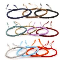 Nylonschnur Armbänder, handgemacht, unisex & einstellbar & gewebte Muster, keine, 5mm, Länge:ca. 7.09 ZollInch, 5SträngeStrang/Menge, verkauft von Menge