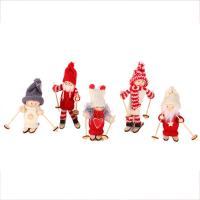 Weihnachtspuppe, Caddice, mit Holz, verschiedene Stile für Wahl, 80x135mm, 5PCs/Menge, verkauft von Menge