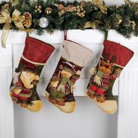 Weihnachtsferien Strümpfe Geschenk Socken, Leinen, mit Vliesstoff, verschiedene Stile für Wahl, 210x430mm, verkauft von PC