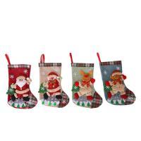Weihnachtsferien Strümpfe Geschenk Socken, Leinen, mit Vliesstoff, verschiedene Stile für Wahl, 200x300mm, verkauft von PC