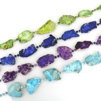 Impression Jaspis Halskette, natürliche & unisex, keine, 32-50x31-50x4.5-5.5mm,6x6x6mm, verkauft per ca. 21-22.5 ZollInch Strang