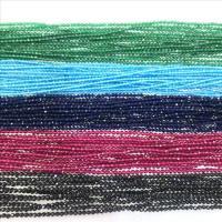 Mode Glasperlen, Glas, verschiedene Größen vorhanden & facettierte, keine, Bohrung:ca. 1mm, verkauft von Strang