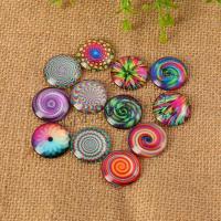 Glas Cabochons, mit Papier, Zeit Edelstein Schmuck & verschiedene Größen vorhanden & flache Rückseite, gemischte Farben, 200PCs/Tasche, verkauft von Tasche