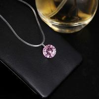 PVC-Kabel Halskette, mit kubischer Zirkonia, für Frau, keine, 8mm, verkauft per ca. 15 ZollInch Strang