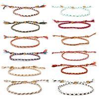 Nylonschnur Armbänder, plattiert, einstellbar & für Frau, keine, Länge:9 ZollInch, 10SträngeStrang/Menge, verkauft von Menge