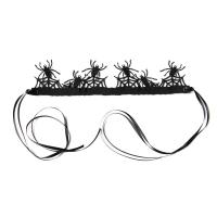 Filz Haarkranz, Halloween Schmuck, schwarz, 29x7cm, verkauft von Strang