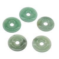 Grüner Aventurin Anhänger, Kreisring, verschiedene Größen vorhanden, grün, Bohrung:ca. 8mm, 5PCs/Tasche, verkauft von Tasche