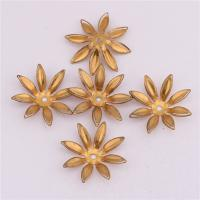 Messing Perlenkappe, originale Farbe, frei von Nickel, Blei & Kadmium, 21mm, Bohrung:ca. 1.5mm, 50PCs/Tasche, verkauft von Tasche
