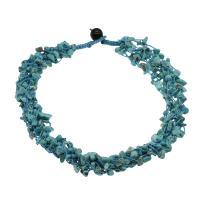Koralle Halskette, mit Türkis & Nylonschnur & Schwarzer Achat, für Frau, keine, 8*6*3mm-14*7*4mm, verkauft per ca. 19.6 ZollInch Strang