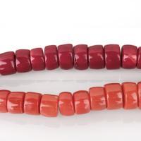 Natürliche Korallen Perlen, Koralle, Zylinder, keine, 7-10x10-16x10-16mm, Bohrung:ca. 1.5mm, verkauft von kg