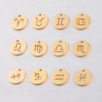 Edelstahl-Konstellation -Anhänger, Edelstahl, poliert, verschiedene Stile für Wahl & hohl, 12mm, Bohrung:ca. 1.6mm, 10PCs/Tasche, verkauft von Tasche