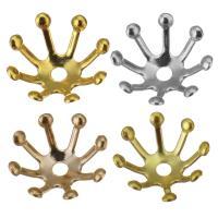 Messing Perlenkappe, plattiert, keine, frei von Blei & Kadmium, 9x4mm, Bohrung:ca. 1.5mm, verkauft von Menge