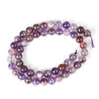 Lila+Phantom+Quarz Perle, rund, poliert, DIY & verschiedene Größen vorhanden, violett, verkauft per ca. 15 ZollInch Strang