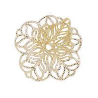 Messing Perlenkappe, goldfarben plattiert, DIY & hohl, frei von Nickel, Blei & Kadmium, 23x26mm, 300PCs/Menge, verkauft von Menge
