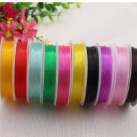 Elastisches Garn, Polyester, DIY, gemischte Farben, frei von Nickel, Blei & Kadmium, 0.80mm, 10PCs/Menge, 8m/Spule, verkauft von Menge