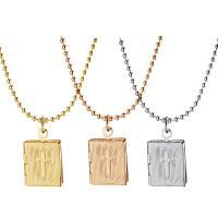 Messing Medaillon-Halskette, plattiert, unisex, keine, 14x11mm,14x12mm, Länge:15 ZollInch, 2SträngeStrang/Menge, verkauft von Menge