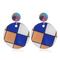 Acryl Tropfen Ohrring, verschiedene Stile für Wahl & für Frau, 35x47mm, 2PaarePärchen/Menge, verkauft von Menge