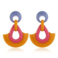 Acryl Tropfen Ohrring, für Frau, keine, 40x58mm, 2PaarePärchen/Menge, verkauft von Menge