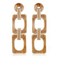 Acryl Tropfen Ohrring, mit Harz, für Frau & hohl, keine, 30x103mm, 2PaarePärchen/Menge, verkauft von Menge