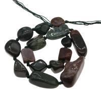 Natürliche Indian Achat Perlen, Indischer Achat, DIY, 17*15*6mm-42*20*18mm, Bohrung:ca. 1mm, verkauft per ca. 14.9 ZollInch Strang