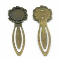 Zinklegierung Lesezeichen Zubehöre, DIY, antike Bronzefarbe, 20mm, 100PC/Menge, verkauft von Menge