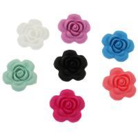 Silikon-Perlen, Silikon, Rose, keine, 40x39.50x16mm, Bohrung:ca. 2mm, ca. 100PCs/Tasche, verkauft von Tasche