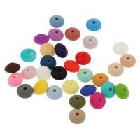 Silikon-Perlen, Silikon, keine, 12*7mm, Bohrung:ca. 2mm, ca. 100PCs/Tasche, verkauft von Tasche