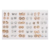 Harz Ohrstecker, verschiedene Stile für Wahl & für Frau & mit Strass, 5-20mm, 36PaarePärchen/setzen, verkauft von setzen