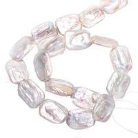 Barock kultivierten Süßwassersee Perlen, Natürliche kultivierte Süßwasserperlen, natürlich, weiß, 14-17mm, Bohrung:ca. 0.8mm, verkauft per ca. 15 ZollInch Strang
