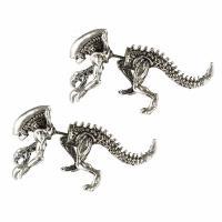 Zinklegierung Cartoon-Split-Ohrring, Dinosaurier, plattiert, unisex, keine, frei von Nickel, Blei & Kadmium, 43x25mm, verkauft von Paar