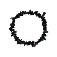 Schwarze Achat Armbänder, Schwarzer Achat, für Frau, schwarz, verkauft per ca. 6.2 ZollInch Strang