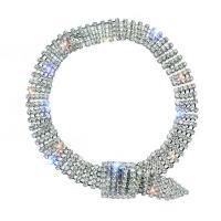 Strass Armband, mit Zinklegierung, für Frau, keine, frei von Nickel, Blei & Kadmium, 405*15mm, verkauft per 8.2 ZollInch Strang