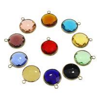 Messing Schmuck Anhänger, mit Kristall, goldfarben plattiert, keine, frei von Nickel, Blei & Kadmium, 20x16.50x6mm, Bohrung:ca. 2.5mm, 100PCs/Tasche, verkauft von Tasche