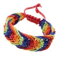 Gewachste Nylonschnur Woven Ball Armband, unisex & einstellbar, farbenfroh, Länge:ca. 7.5 ZollInch, 2SträngeStrang/Menge, verkauft von Menge