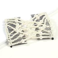 Haarknoten Dutt Dreher, Zinklegierung, mit Kunststoff Perlen, plattiert, für Frau, keine, frei von Nickel, Blei & Kadmium, 75x100mm, verkauft von PC