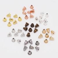 Eisen Ohrmutter Zubehör, plattiert, DIY, keine, frei von Nickel, Blei & Kadmium, 5x6mm, 200PCs/Tasche, verkauft von Tasche